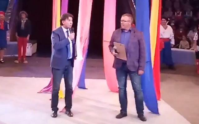 Привітання Павла Білаша та Сергія Кабакова.